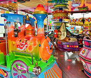 Decorated attractions for children Stock Photo
