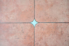 Decorated background tiles terracotta color Royalty Free Stock Image