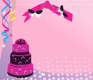 Decorated baked cake Stock Images