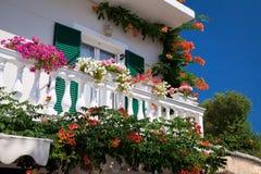 Decorated balcony Stock Image