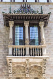 Decorated balcony in Barcelona Royalty Free Stock Photos