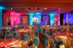 Decorated Ballroom for Indian Weding Royalty Free Stock Photo