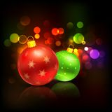 Decorated Bauble in Christmas background Royalty Free Stock Images