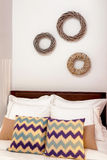 Decorated bedroom interior Stock Photo