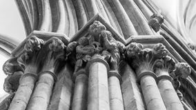 Decorated Bell Capital Wells Cathedral BW Royalty Free Stock Photos