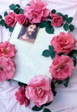 Decorated Bible. A bible decorated with flowers Royalty Free Stock Photos