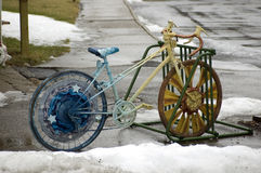 Decorated bicycle Stock Photos