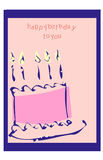 Decorated birthday Stock Images