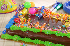 Decorated birthday cake Stock Photography