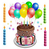 Decorated birthday cake Royalty Free Stock Photo