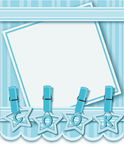 Decorated blue pastel menu Stock Photo