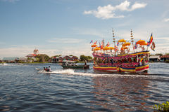 Decorated boat for a Buddhist festival Stock Photos