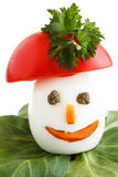 Decorated boiled Egg Stock Image