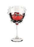 Decorated bows glass of wine Royalty Free Stock Photo