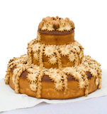 Decorated bread. On white background Royalty Free Stock Photo
