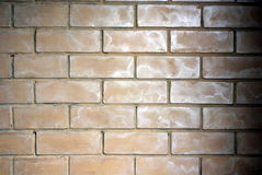 Decorated brick. A decorated brick covered with fine sand and silver Royalty Free Stock Photography