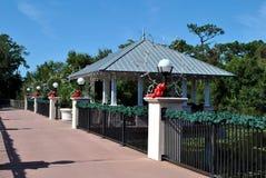 Decorated bridge. A decorated bridge in Florida Botanical Gardens USA Stock Photo