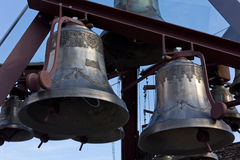 Decorated Bronze Bells Royalty Free Stock Images