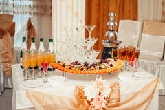 Decorated buffet table Royalty Free Stock Image