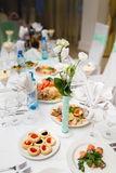 Decorated buffet table Royalty Free Stock Photography