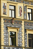 Decorated building detail Royalty Free Stock Photography