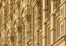 Decorated building facade royalty free stock images