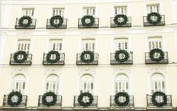 Decorated building on the Puerta del Sol Madrid, Spain Stock Photos