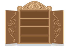 Decorated Cabinet. Empty cabinet with decorated cabinet doors Stock Image
