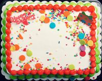 Decorated Cake Icing Background Stock Photography
