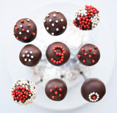 Decorated cake pops Stock Photo