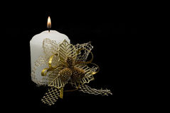 Decorated candle. Stock Image