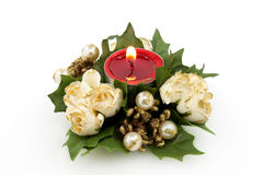Decorated Candle For Christmas Stock Image
