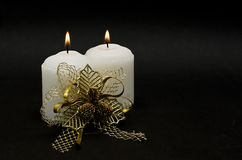 Decorated candles. Stock Image