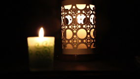 Decorated candles stock video