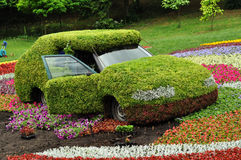 Decorated car in the park Royalty Free Stock Images