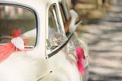 Decorated Car's Mirror Royalty Free Stock Image
