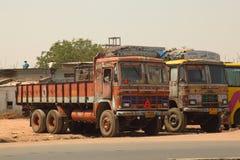Decorated Cargo Trucks Royalty Free Stock Photos