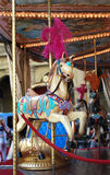 Decorated carousel horse Stock Images