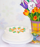 Decorated Carrot Cake Stock Photography