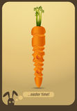 Decorated carrot - easter time Royalty Free Stock Photos