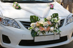 Decorated cars for wedding day Royalty Free Stock Photos