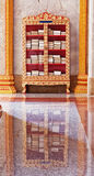 Decorated case with books for meditation. Wat Chalong Royalty Free Stock Photography