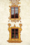 Decorated castle windows Royalty Free Stock Photos