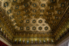 Decorated ceiling in Alcazar, Segovia, Spain Royalty Free Stock Images