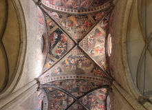 Decorated ceiling in Arezzo Stock Images