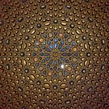 Decorated ceiling of the Dome of the Ambassadors room royalty free stock photos