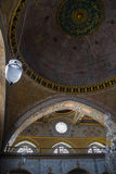 Decorated ceiling in Imperial Hall in Topkapi Stock Photo