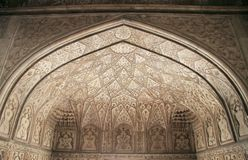 Decorated ceiling in one of palaces, Agra fort Royalty Free Stock Photo