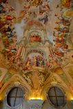Decorated ceiling. With patterns and paintings Royalty Free Stock Photos