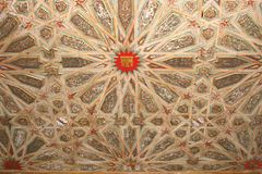 Decorated ceiling in the Royal Alcazars Palace (Unesco) in Seville,Spain Stock Photography